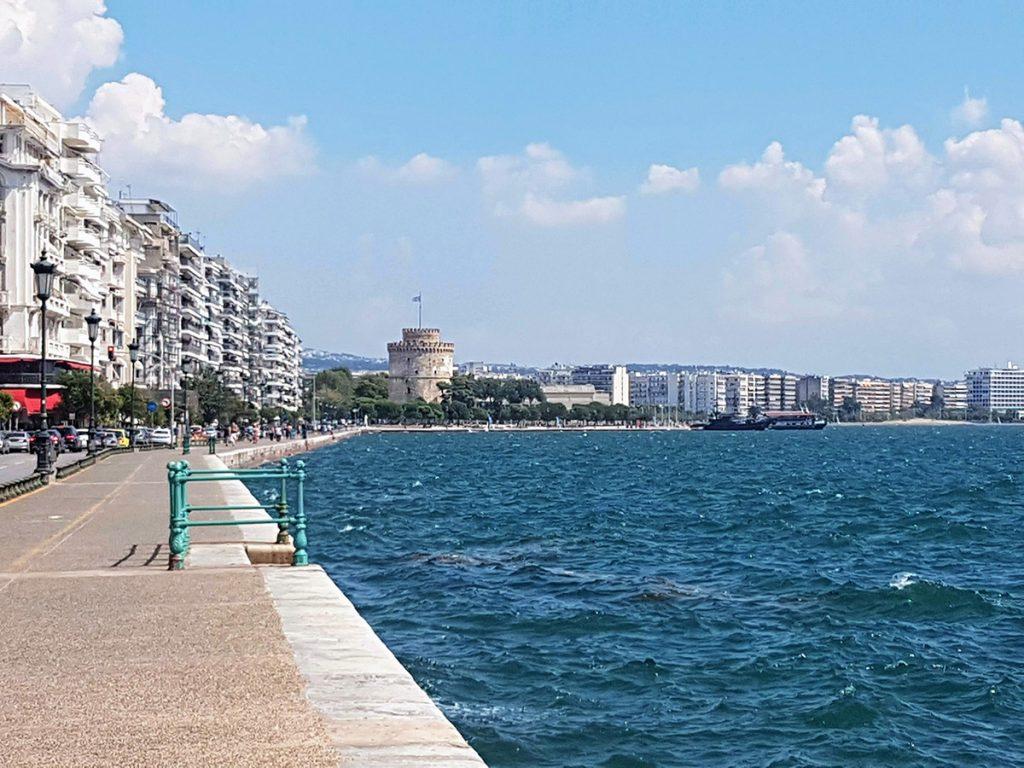 Grecia Settentrionale - Lungomare di Salonicco con Torre Bianca sullo sfondo
