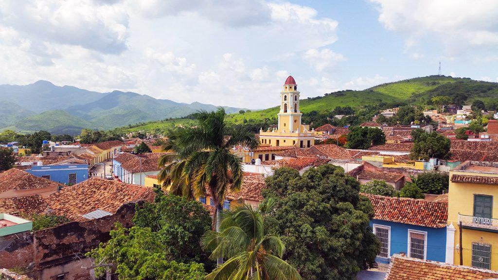 Cuba. Veduta di cittadina coloniale