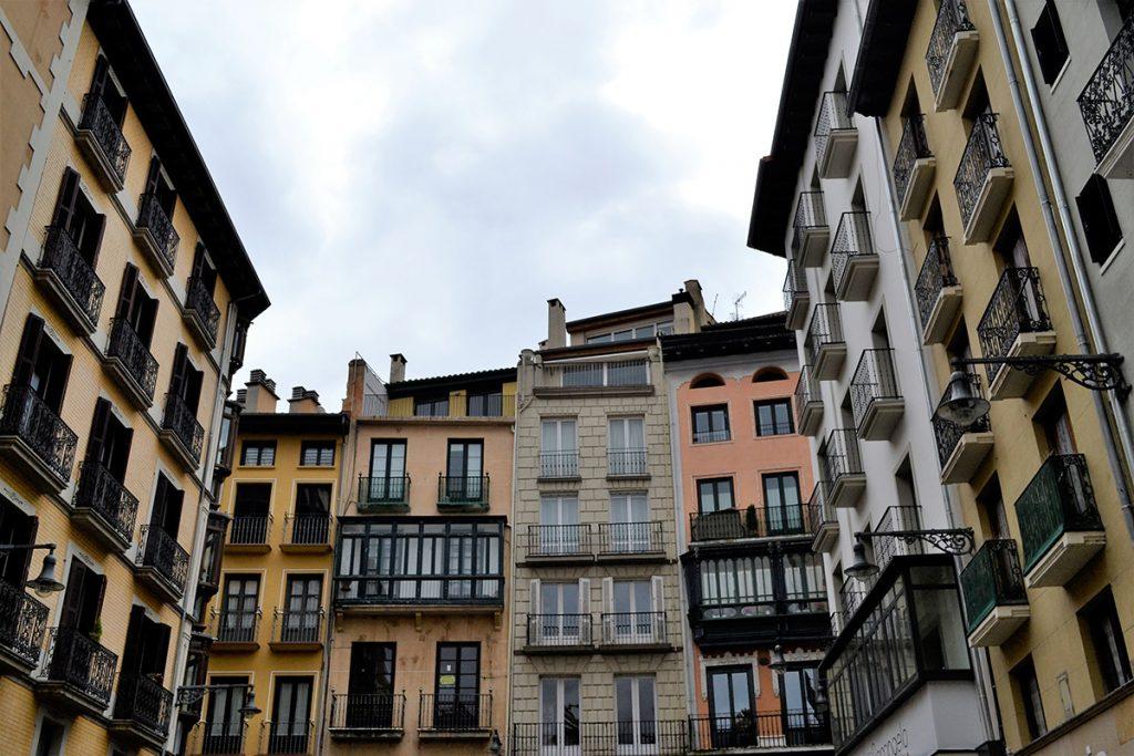 Palazzi nel centro storico di Pamplona