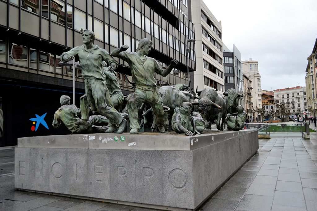 Statua dell'Encierro di Pamplan