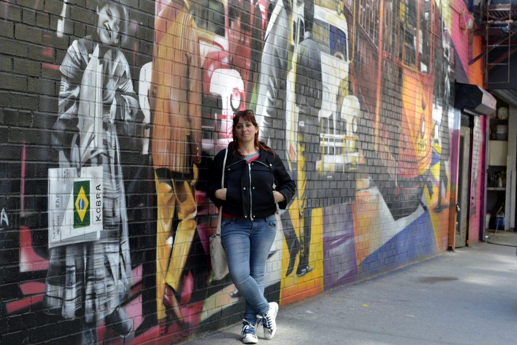 New York, muro graffiti