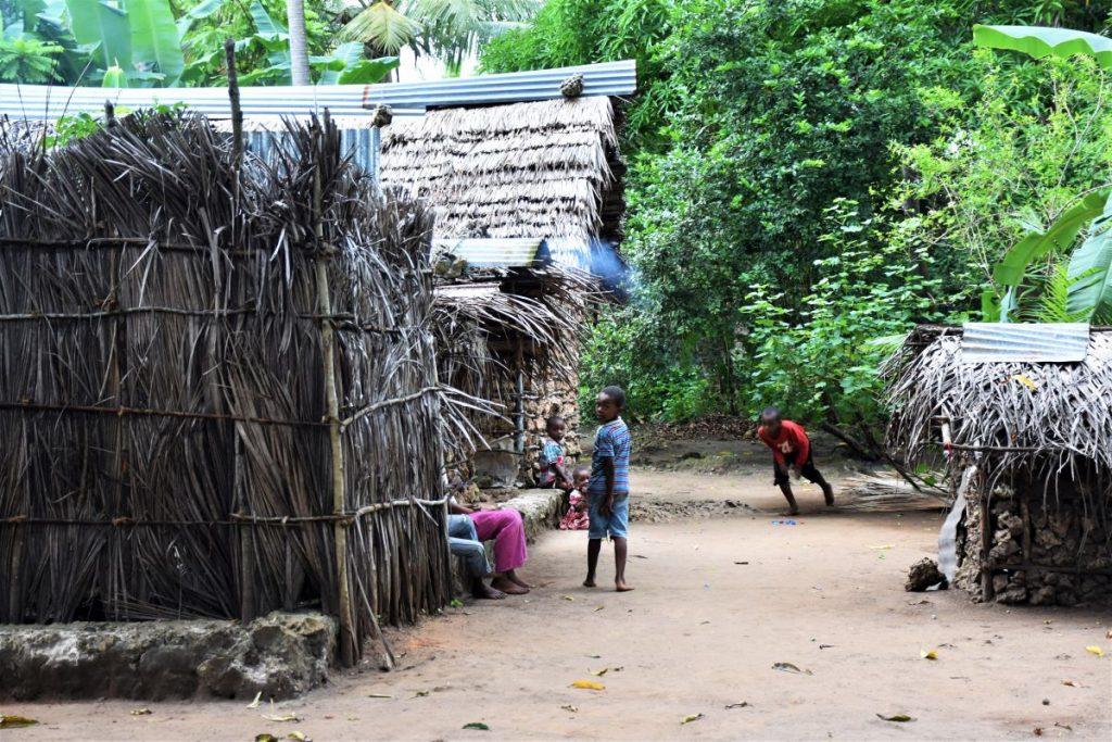 Zanzibar, bambini che giocano fra le case