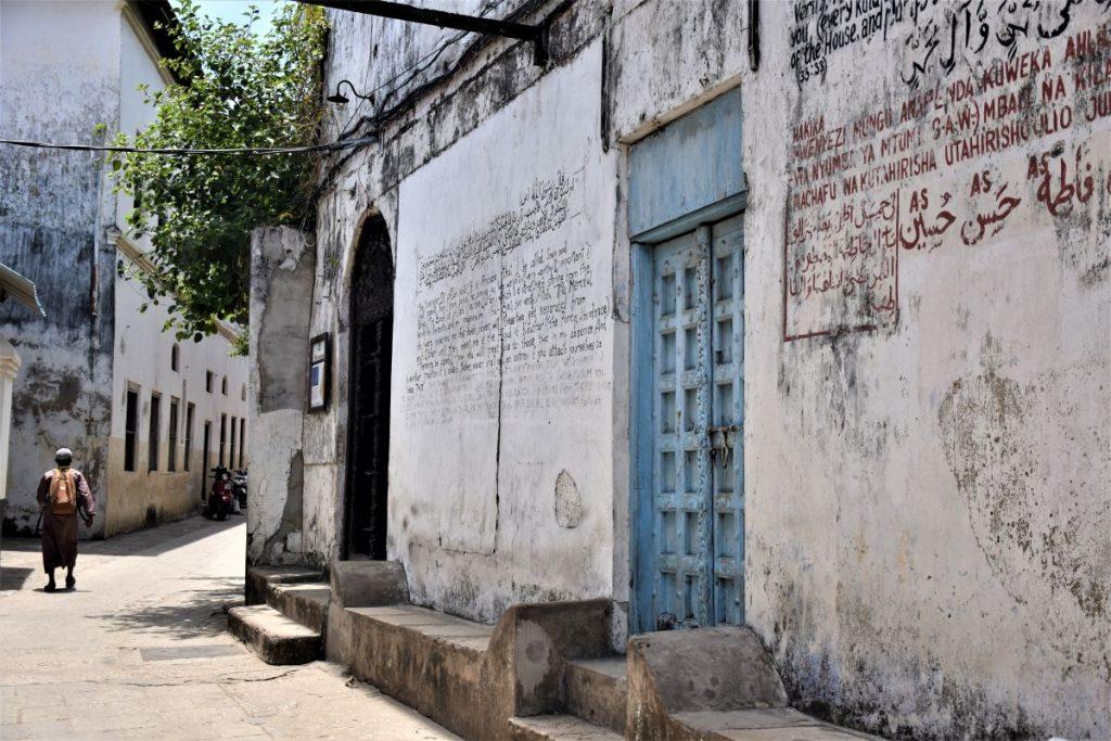 Zanzibar, palazzo con scritte in arabo